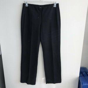 Eileen Fisher dark brown straight leg stretch pant